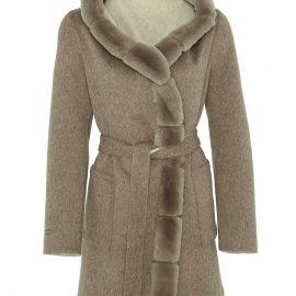Womens Reversible Alpaca Coat with Hoddy – Rex
