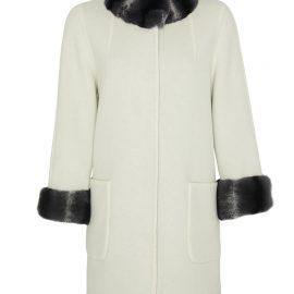 Reversible Womens Alpaca Coat with Rex