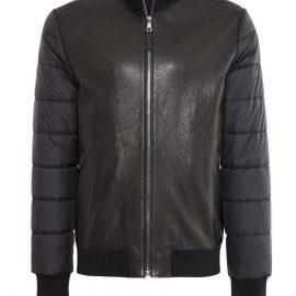 Mens Leather Rain Coat