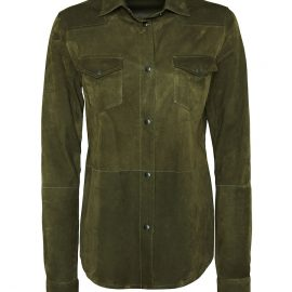 Womens Metis Suede Shirt – Khaki