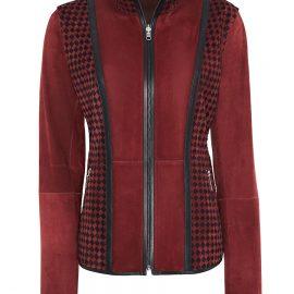 Hand Knitted Metis Suede Reversible Jacket – Burgundy