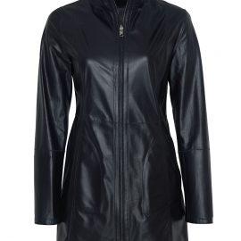 Womens Reversible Leather Coat