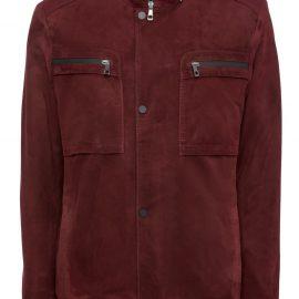 Mens Genuine Suede Jacket – Burgundy