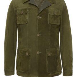 Mens Safari Suede Jacket – Khaki