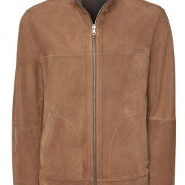 Mens Reversible Suede Jacket with Zipper